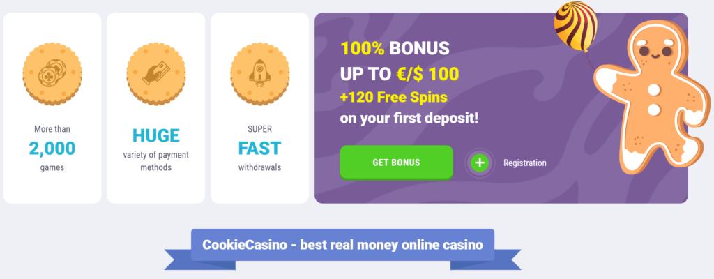 Cookie Casino Välkomstbonus
