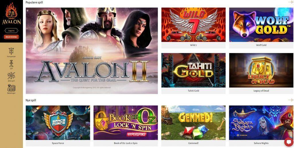 Avalon78 Casino Recension 2020