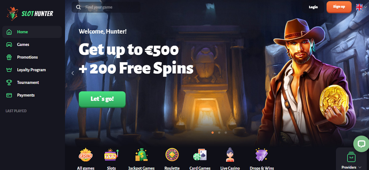 slothunter casino bonus