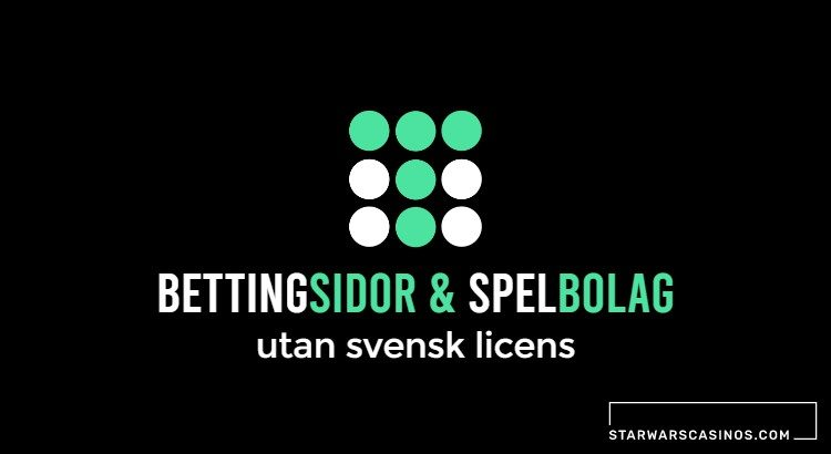 Bettingsidor och spelbolag utan svensk licens